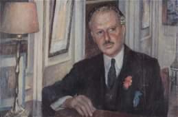David Rolt (British 1916 - 1985) - A portrait of Harold
