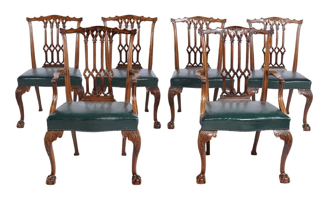 A set of six mahogany dining chairs in George III style