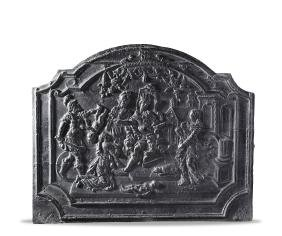 A French Louis IV cast iron fireback, mid 17th century