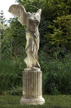 A sculpted limestone model of the Samothrace Nike, 20th