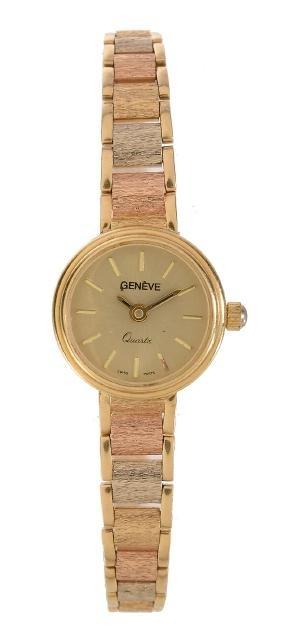 Geneve, a lady's gold coloured bracelet wristwatch,