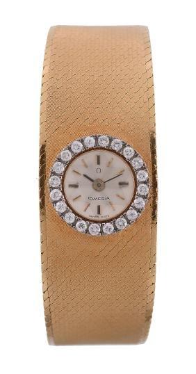 Omega, a lady's 18 carat gold and diamond bracelet
