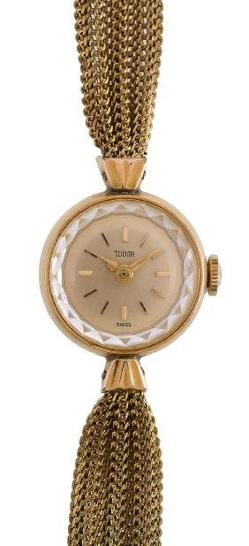 Tudor, ref. 1848, a lady's gold plated wristwatch, no