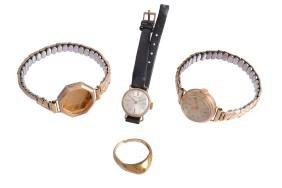 Tudor, a lady's 9 carat gold wristwatch, no