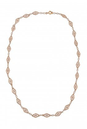 An early 20th century French fancy link necklace