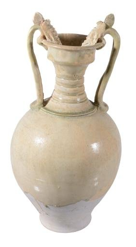 A Chinese amphora-shaped vase, early Tang Dynasty