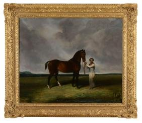 Abraham Cooper (British, 1787-1868) - Horse and groom