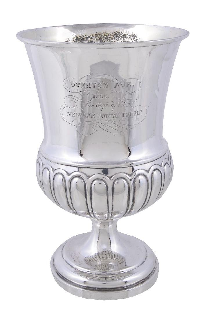 A late George III silver trophy cup, maker's mark
