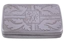 A George III silver rectangular vinaigrette, maker's