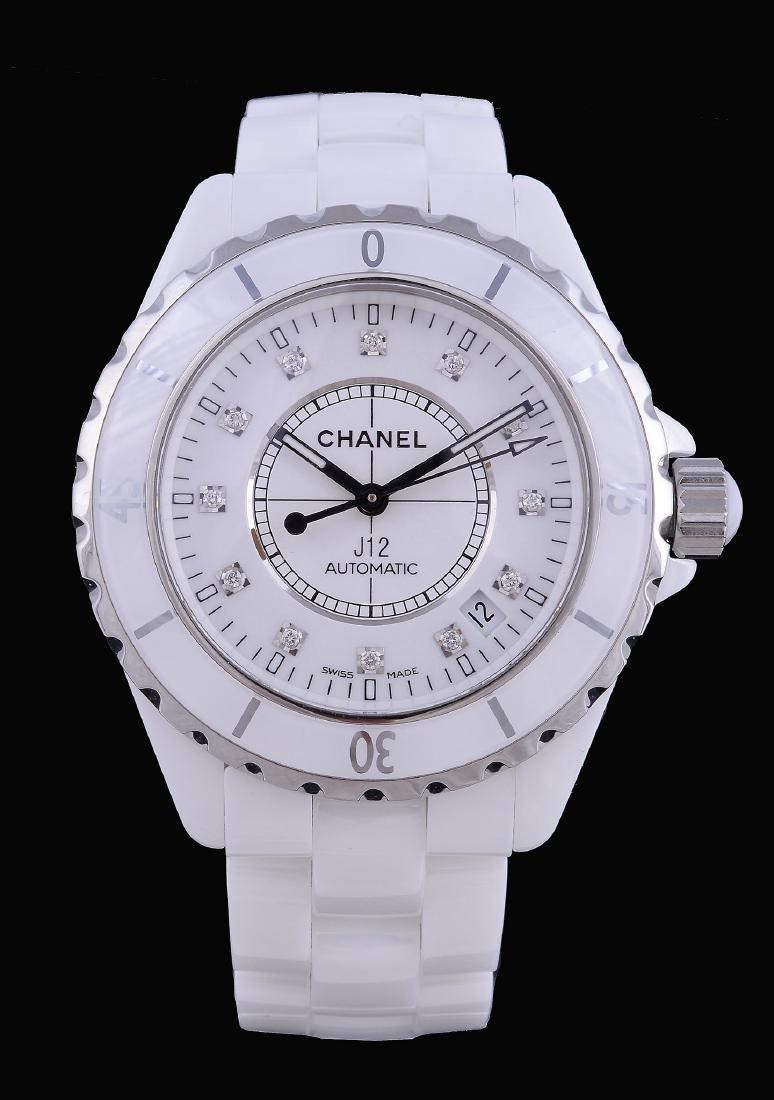 Chanel, J12, a white ceramic bracelet wristwatch, no.