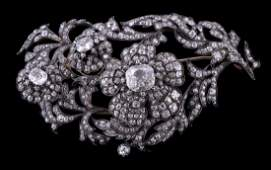 An early Victorian diamond floral en tremblant brooch