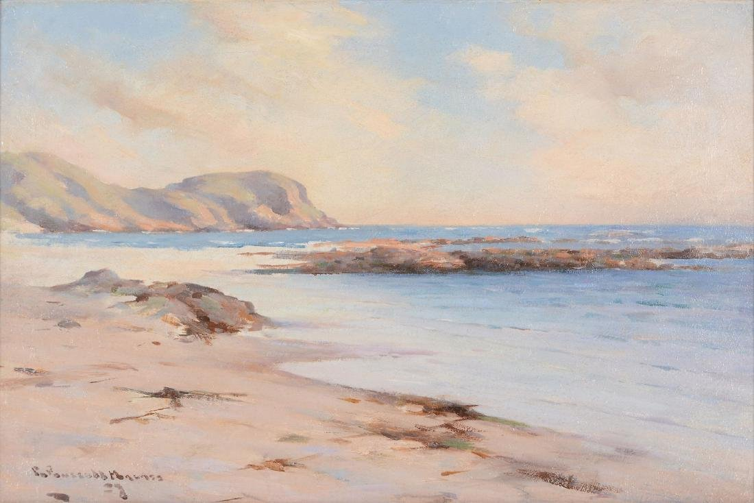 William Russell Macnee A Beach on the West Coast Oil on
