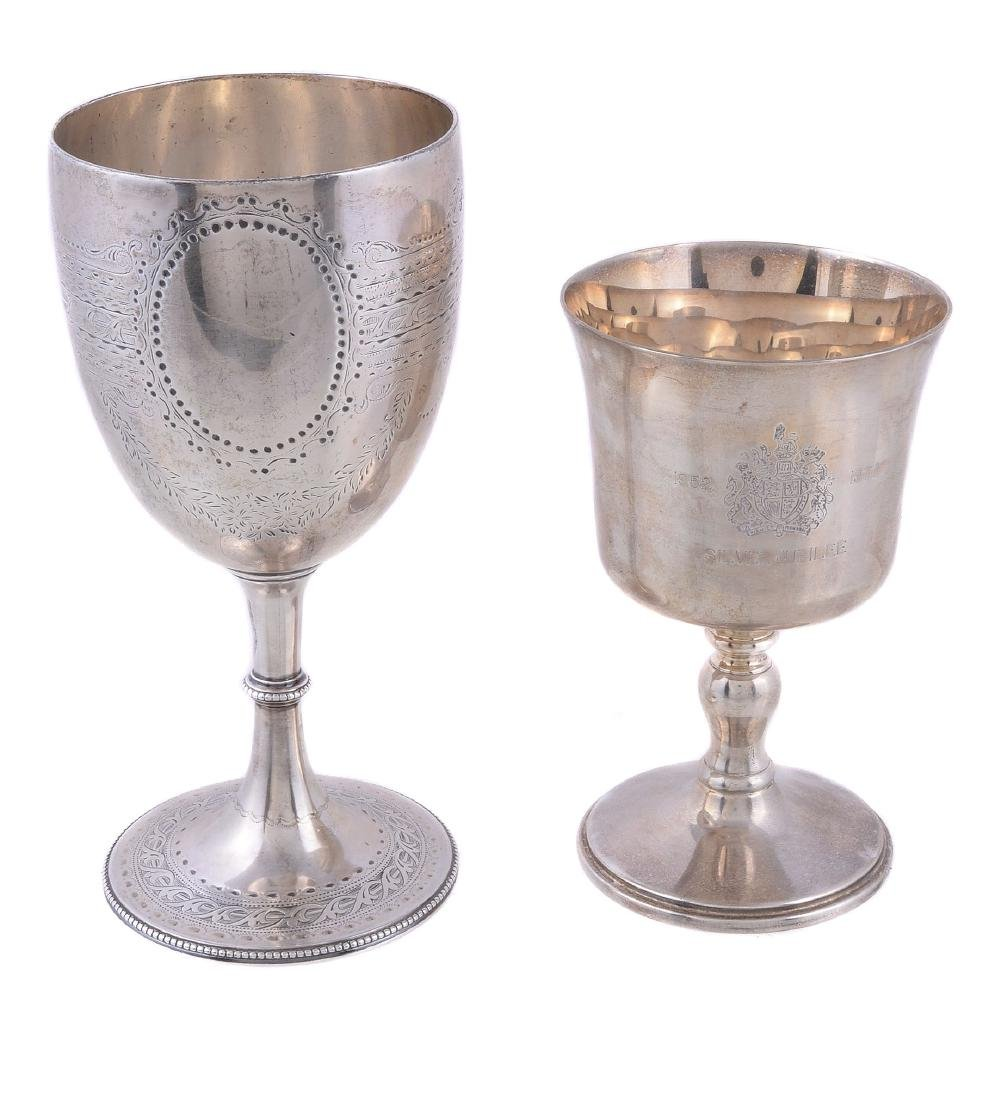 A Victorian silver goblet by Richards & Brown, London