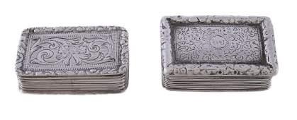 A Victorian silver rectangular vinaigrette by Joseph