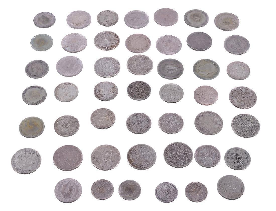 Great Britain, sterling silver Halfcrowns , Florins ,