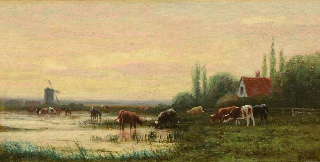 William Frederick Hulk (British 1852-1906) - Cows