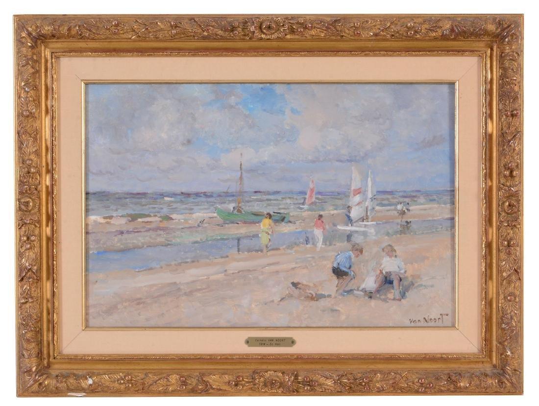 Arie van Noort (Dutch 1914-2003) - Beach scene with - 2