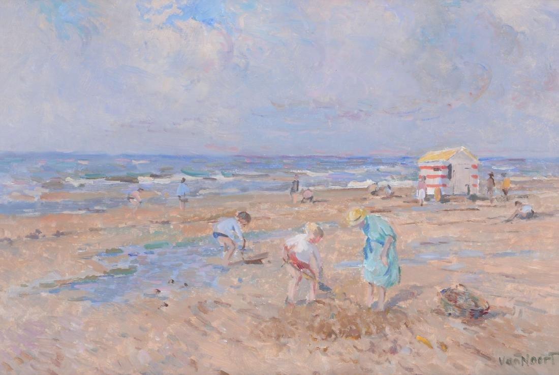 Arie van Noort (Dutch 1914-2003) - Beach scene with