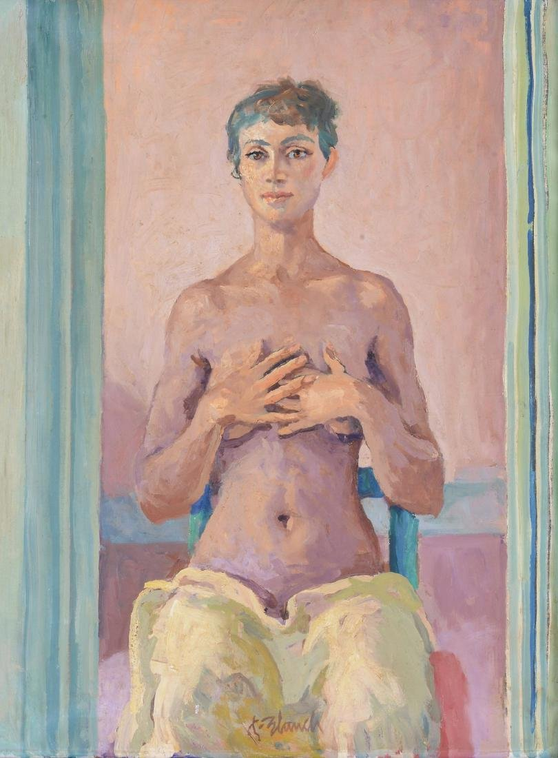 Xavier Blanch Pla (Spanish 1918-1999) - Young woman