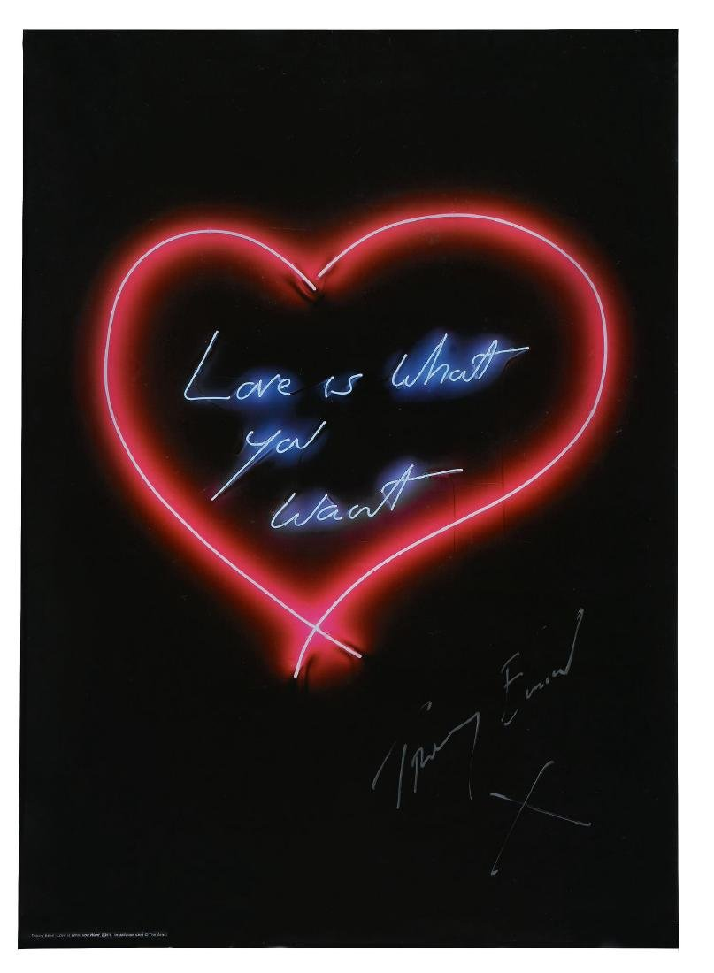 Tracey Emin (British b.1963) - Love Is What You Want