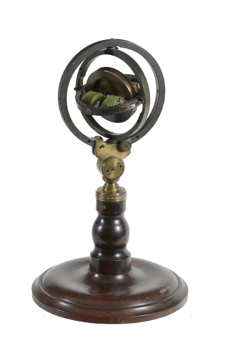 An early electric motorised gyroscope Unsigned
