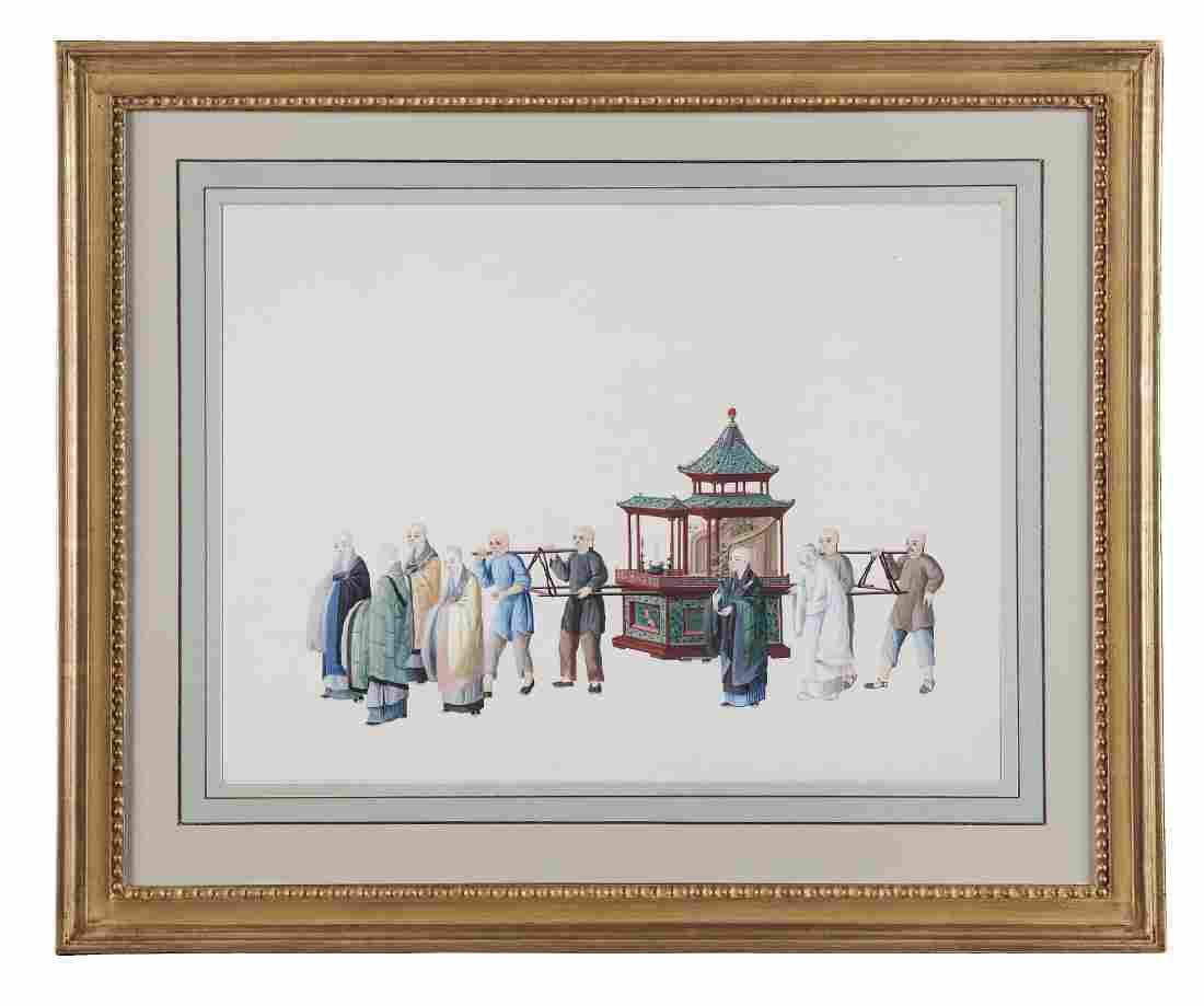 Chinese School (18th century) - A set of twelve scenes