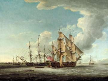 John Cleveley the Elder (1712-1777) - Two 32-gun