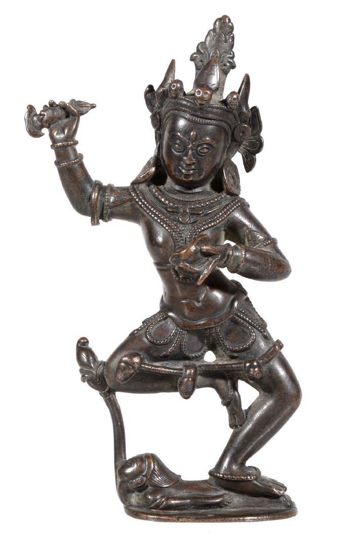 A bronze figure of Vajravarahi, Tibet, 15-16th century