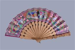 A Chinese 'Mandarin' Fan, second half of the 19th