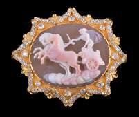 An early Victorian hardstone cameo brooch , circa 1840