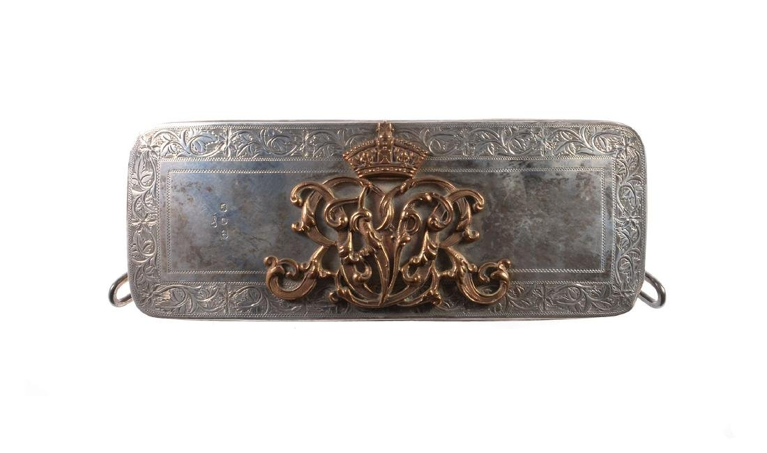 A Victorian officer's full dress silver belt box or
