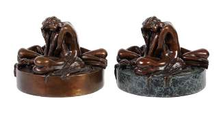 Jonathan Wylder , a patinated bronze group of four