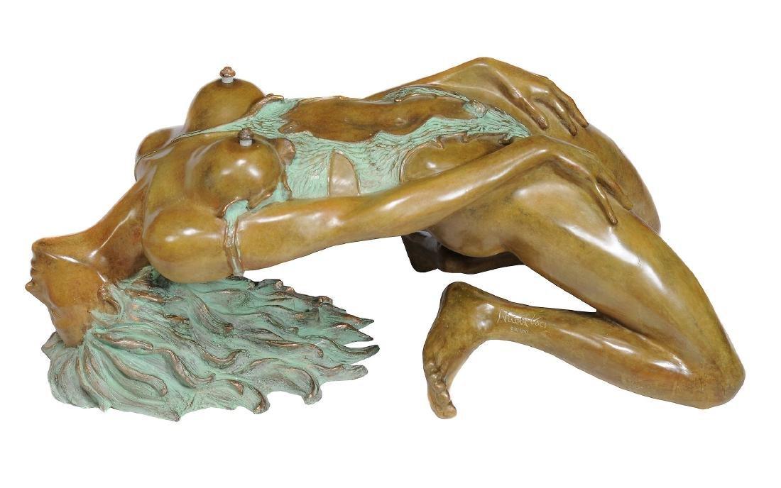 δ Nicola Voci, Justina , a coated bronze partial