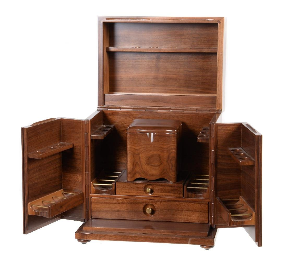 Dunhill, a hardwood humidor, the lift up cover and two