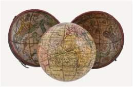 A fine and rare George III 2.5 inch pocket globe J