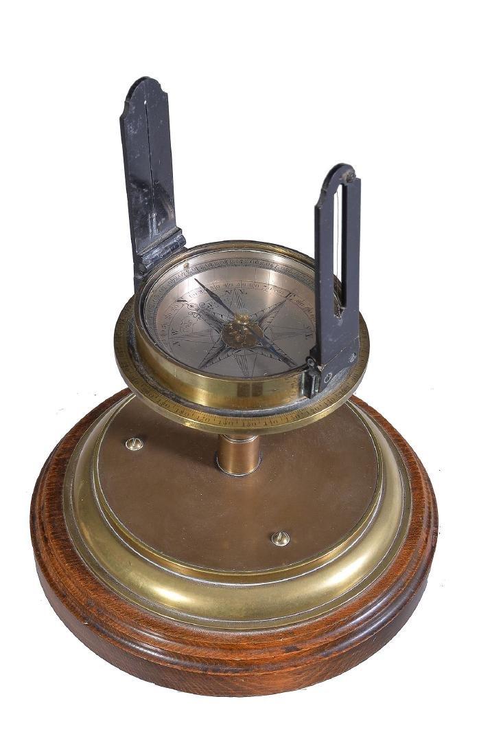 A George III brass surveyor's sighting compass dial
