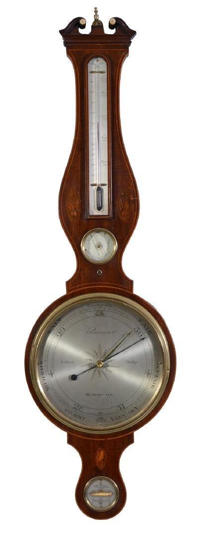 A fine George III inlaid mahogany mercury wheel