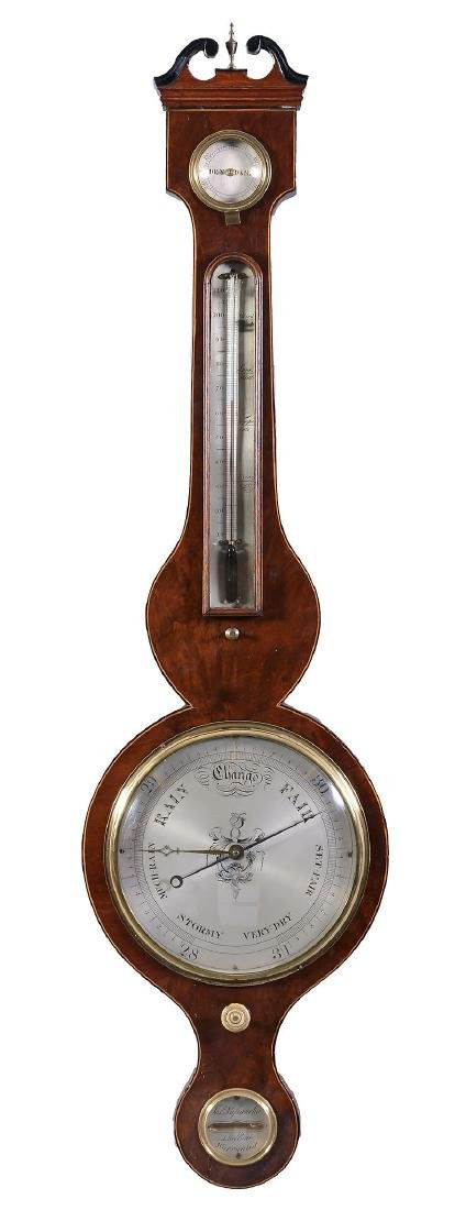A Regency mahogany mercury wheel barometer Joseph