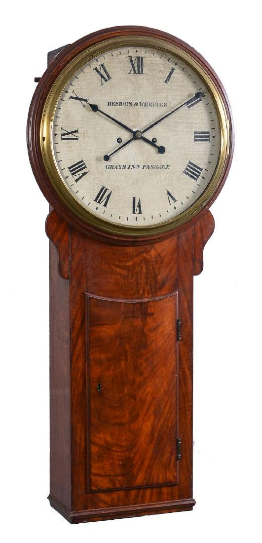 A rare George III mahogany hour-striking tavern clock