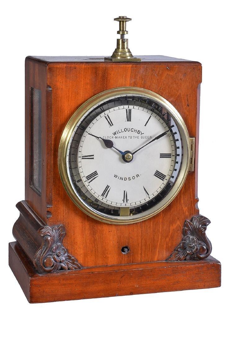 A Victorian mahogany night watchman's tell-tale bracket
