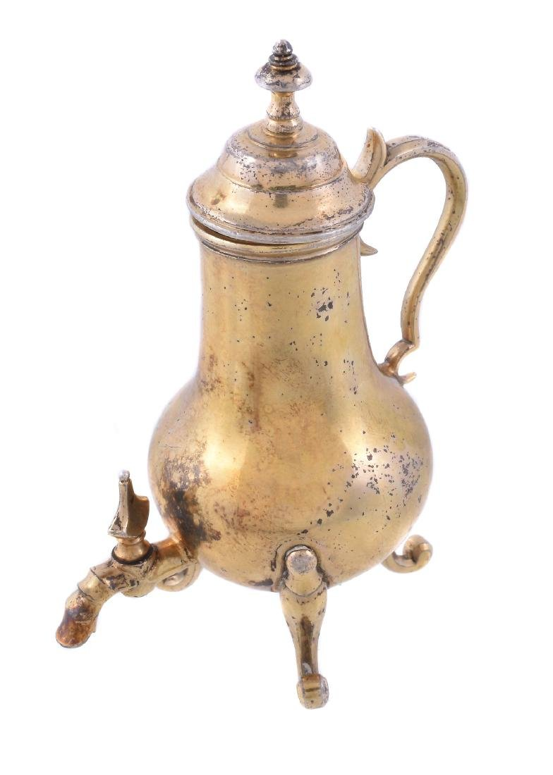 A late 18th century Dutch silver gilt miniature or toy