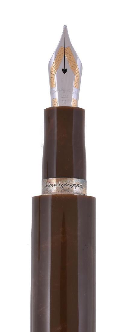 Montegrappa, Cigar, a brown fountain pen, with a brown - 2