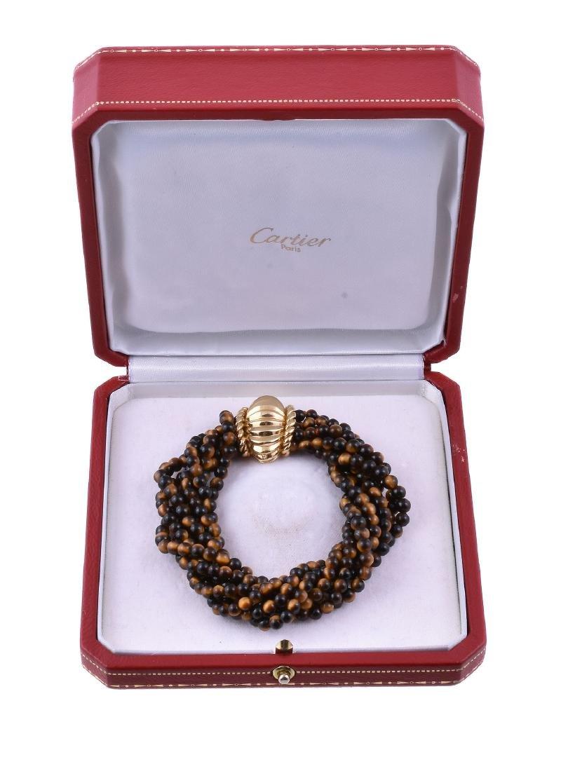 A 1960s tigers eye quartz bracelet by Cartier - 2