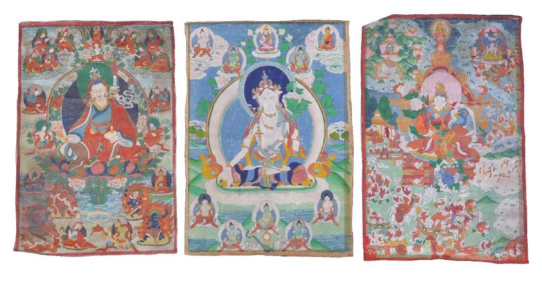 Three Tibetan Thang ka
