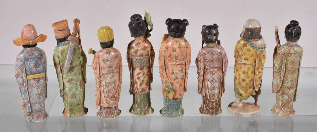 A set of eight Chinese soapstone figures of 'The Eight - 2