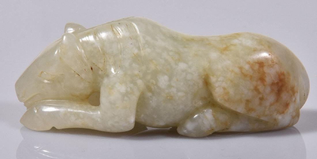 A Chinese pale celadon carving of a 'horse' - 3