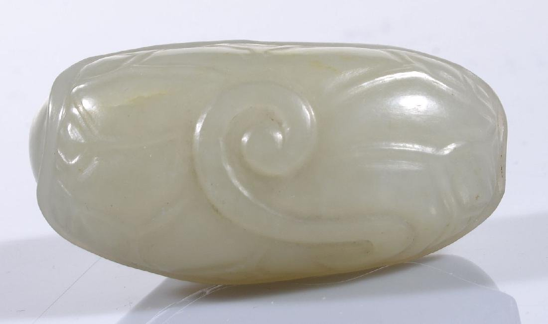A Chinese pale celadon carving of a Goose - 3