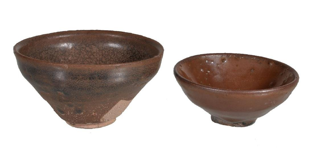 Two Chinese 'Jian' ware bowls