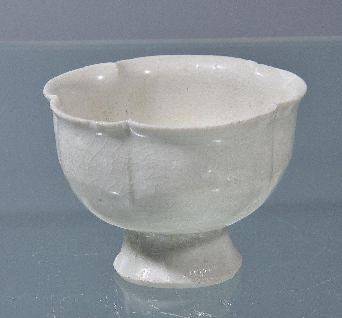 A Chinese Qingbai cup and stand - 4