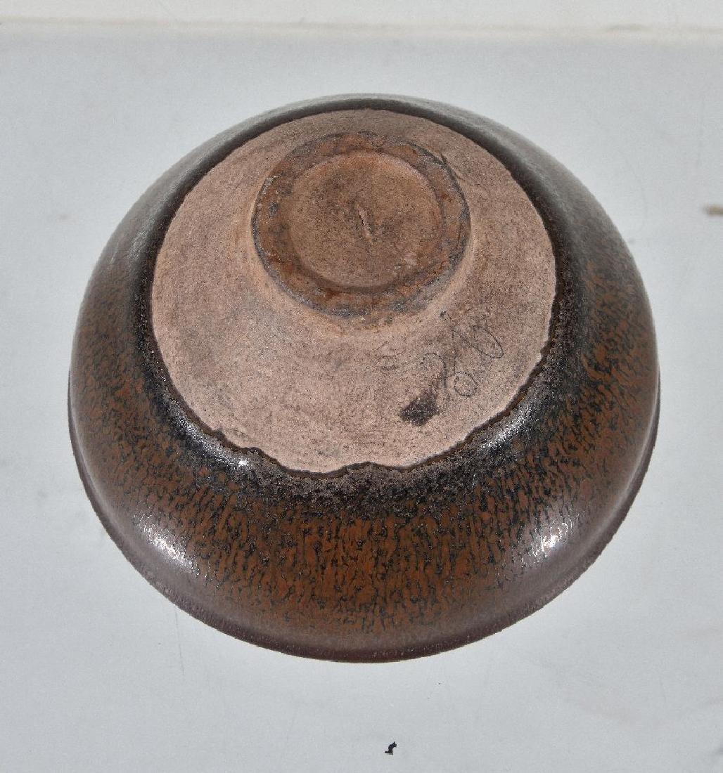 A 'Jain' black-glazed 'Hare's Fur' bowl - 3